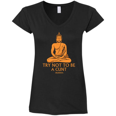 Buddha Cunt Ladies V-Neck