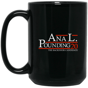 Anal Pounding 20 Black Mug 15oz (2-sided)