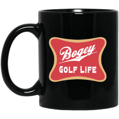 Bogey Golf Black Mug 11oz (2-sided)