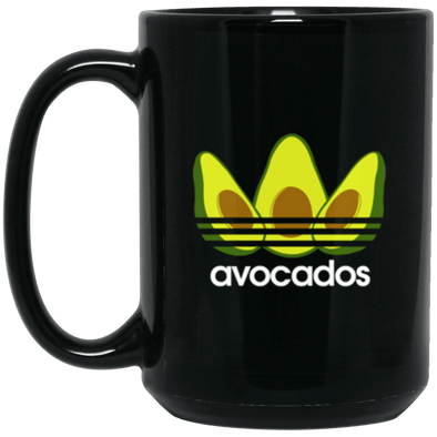 Avocados Black Mug 15oz (2-sided)