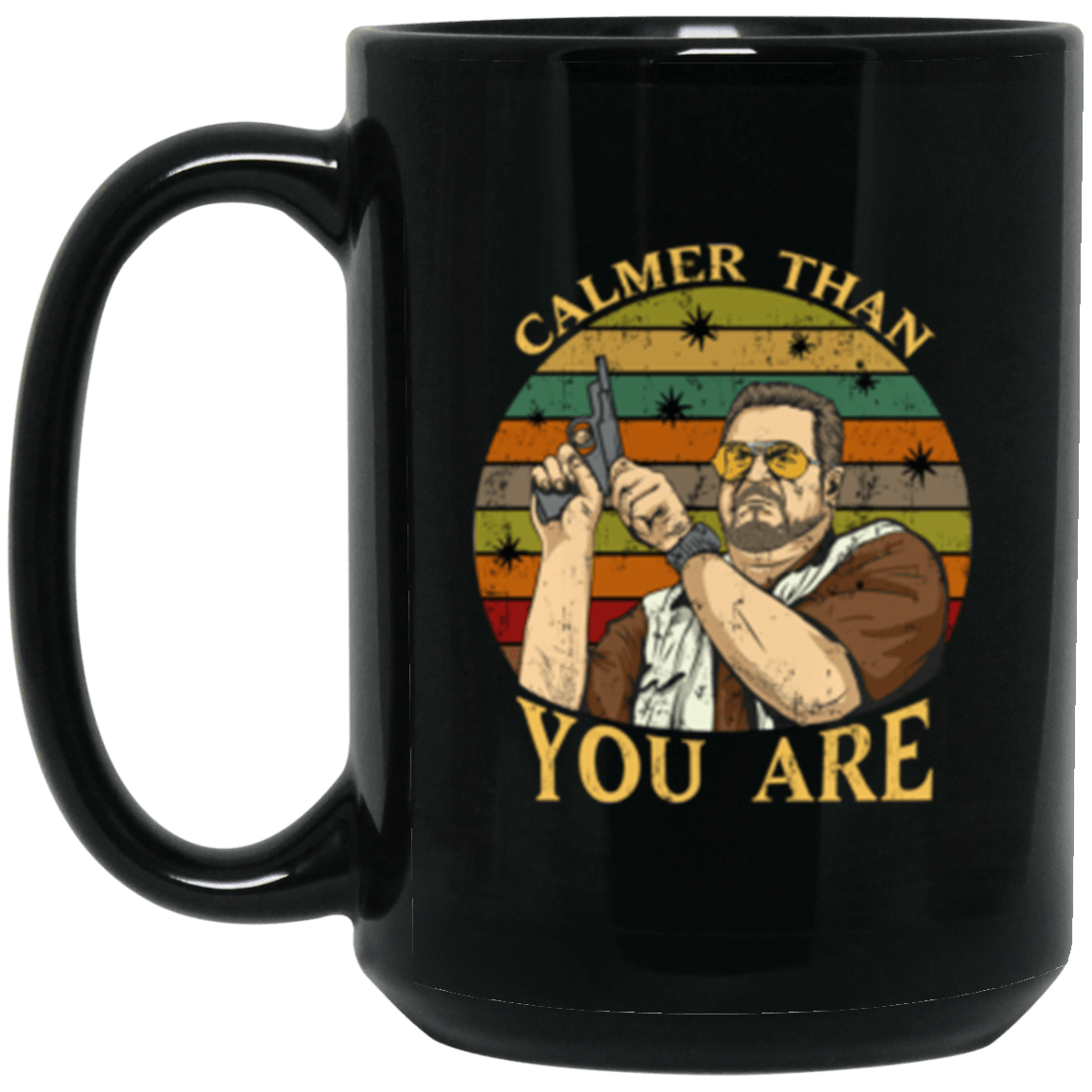 Calmer Black Mug 15oz (2-sided)
