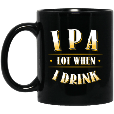IPA Lot Black Mug 11oz (2-sided)