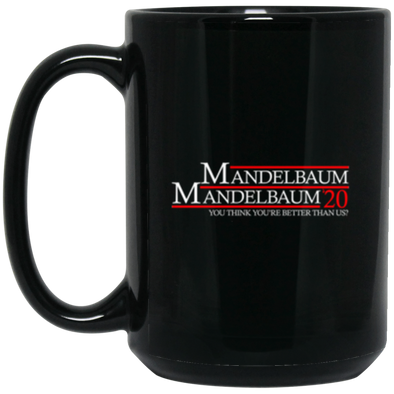 Mandelbaum 2020 Black Mug 15oz (2-sided)