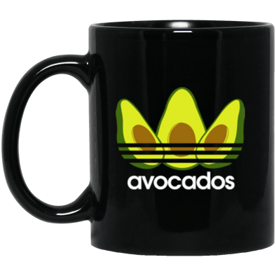 Avocados Black Mug 11oz (2-sided)