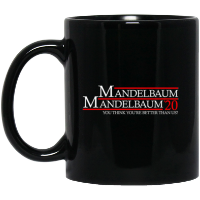 Mandelbaum 2020 Black Mug 11oz (2-sided)
