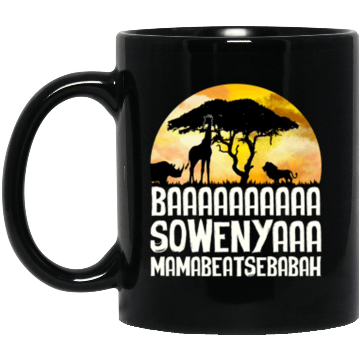Baa Sowenya Black Mug 11oz (2-sided)