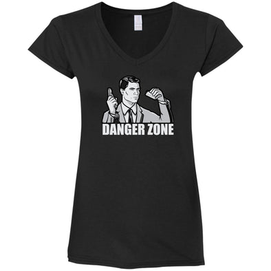 Danger Zone Ladies Fitted V-Neck