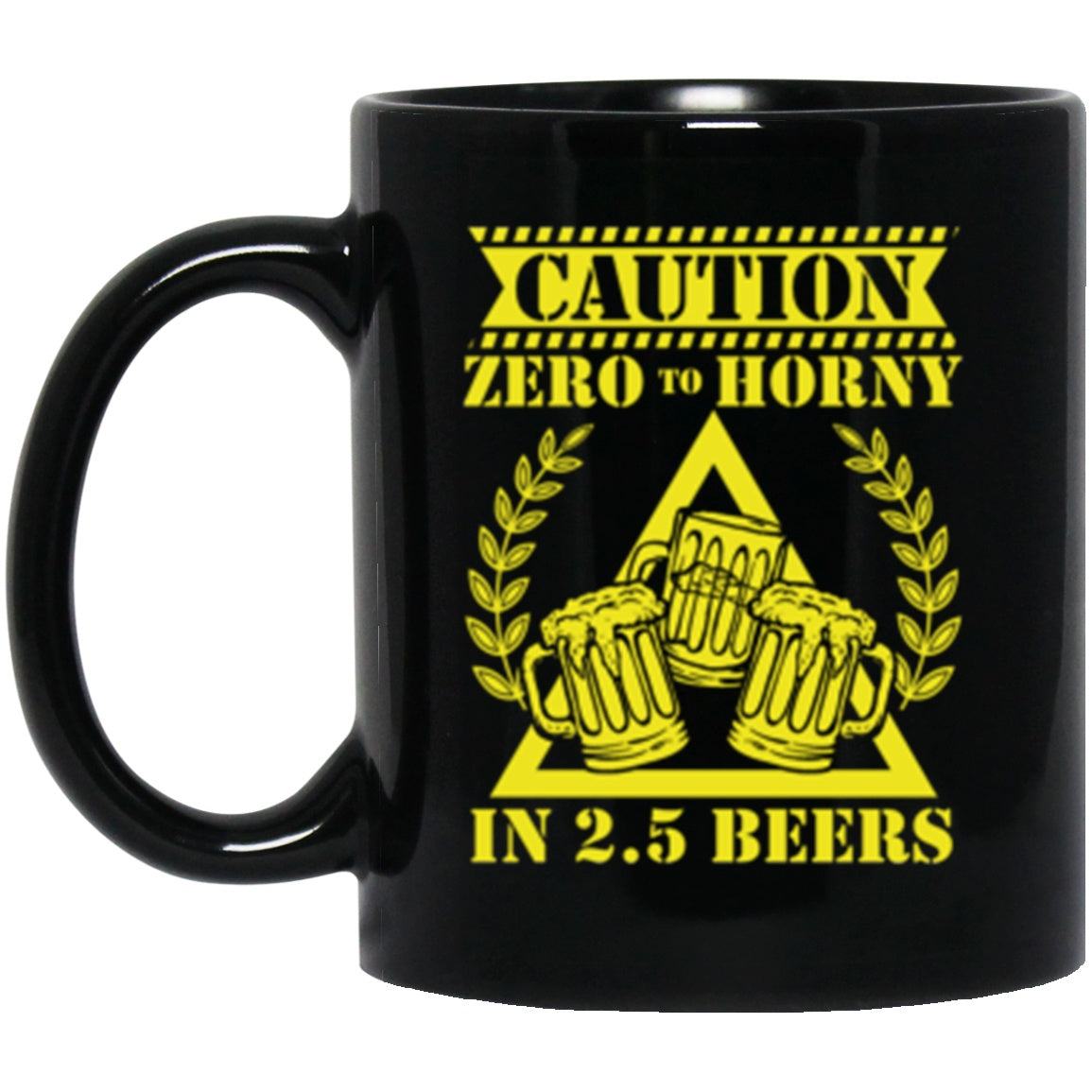 Drinkware - 2.5 Beers Black Mug 11oz (2-sided)