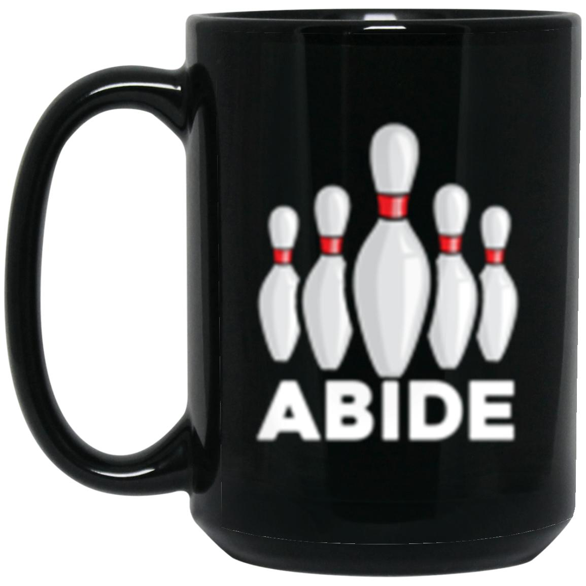 Drinkware - Abide Pins Black Mug 15oz (2-sided)