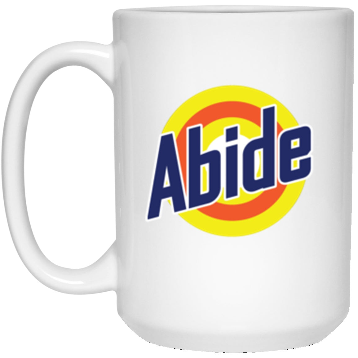 Drinkware - Abide Tide White Mug 15oz (2-sided)
