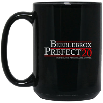 Drinkware - Beeblebrox Prefect 20 Black Mug 15oz (2-sided)