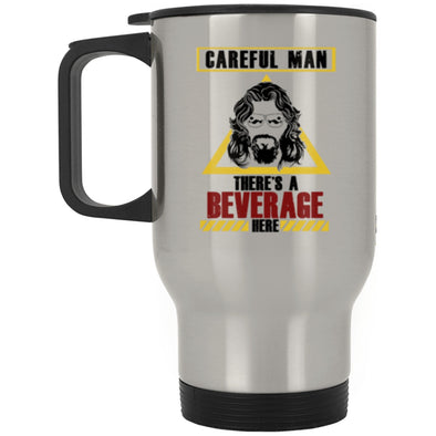 Drinkware - Beverage Here 2 Steel Travel Mug (2-sided)