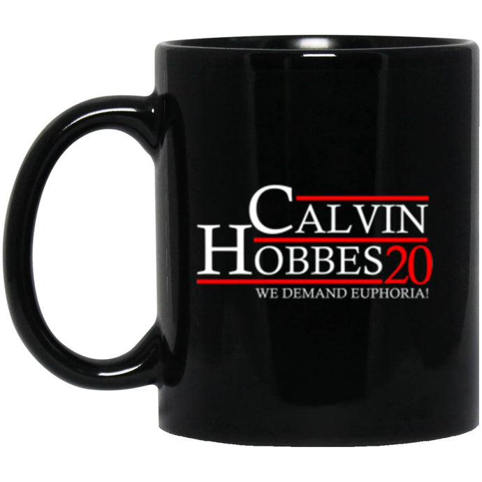 Drinkware - Calvin Hobbes 20 Black Mug 11oz (2-sided)