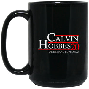 Drinkware - Calvin Hobbes 20 Black Mug 15oz (2-sided)