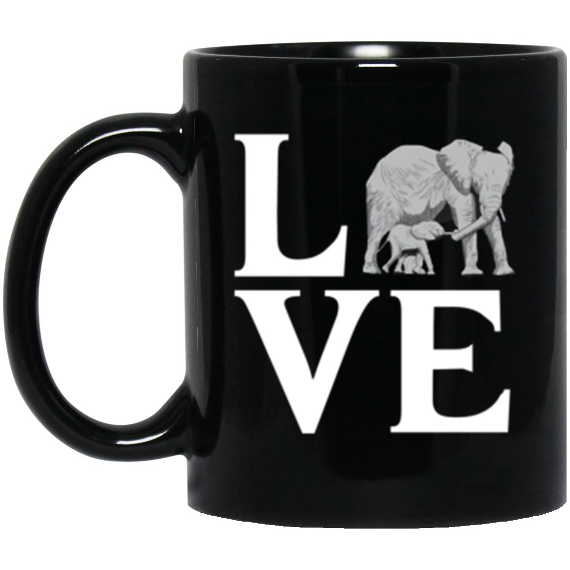 Drinkware - Elephant Love Mug 11oz (2-sided)