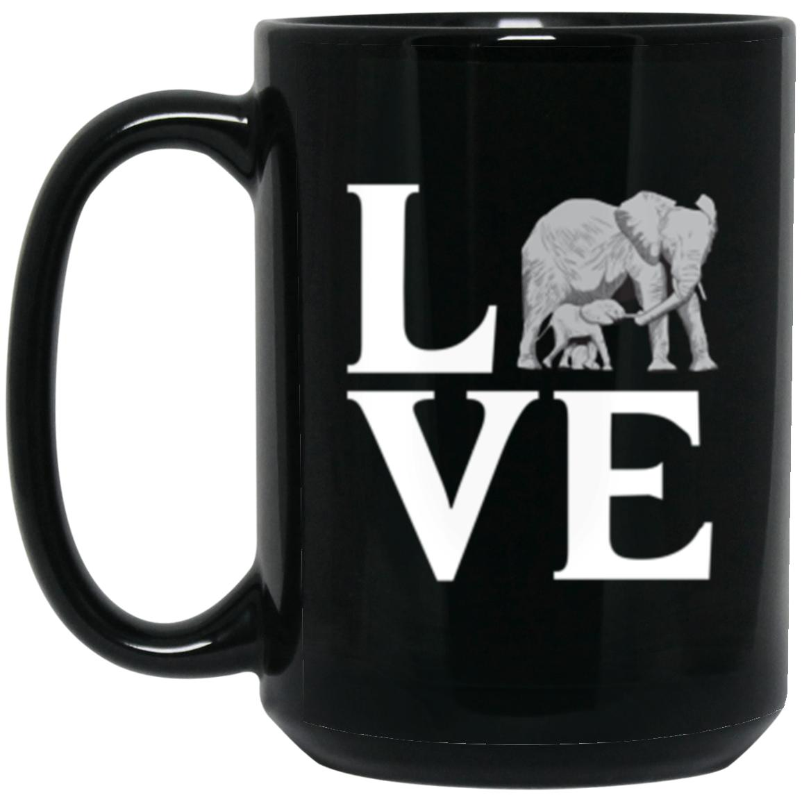 Drinkware - Elephant Love Mug 15oz (2-sided)