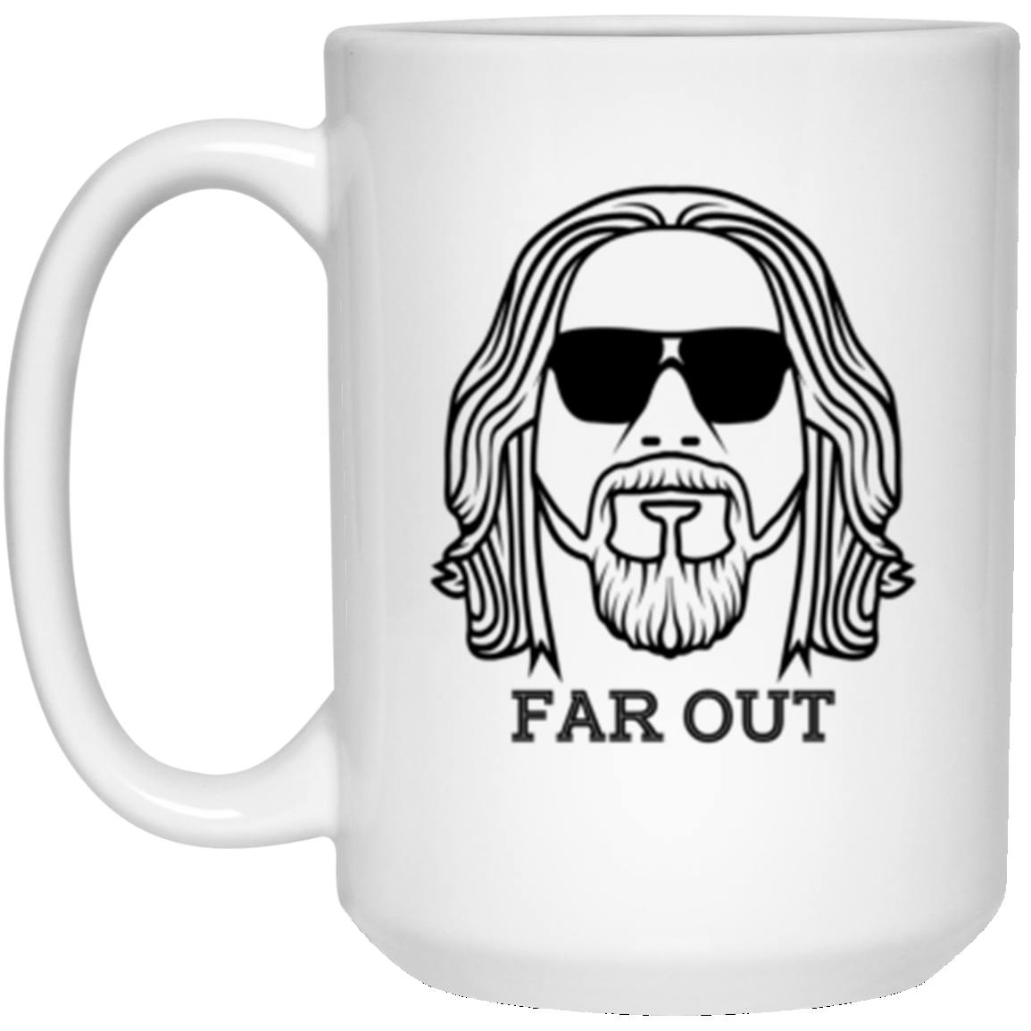 Drinkware - Far Out White Mug 15oz (2-sided)