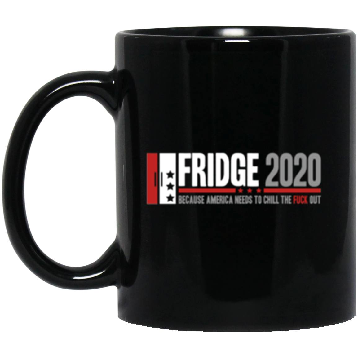 Drinkware - Fridge 2020 Black Mug 11oz (2-sided)