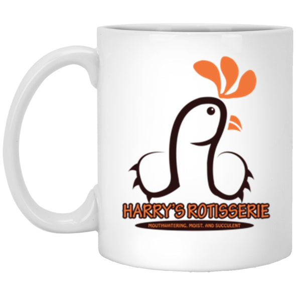 Drinkware - Harry's Rotisserie White Mug 11oz (2-sided)