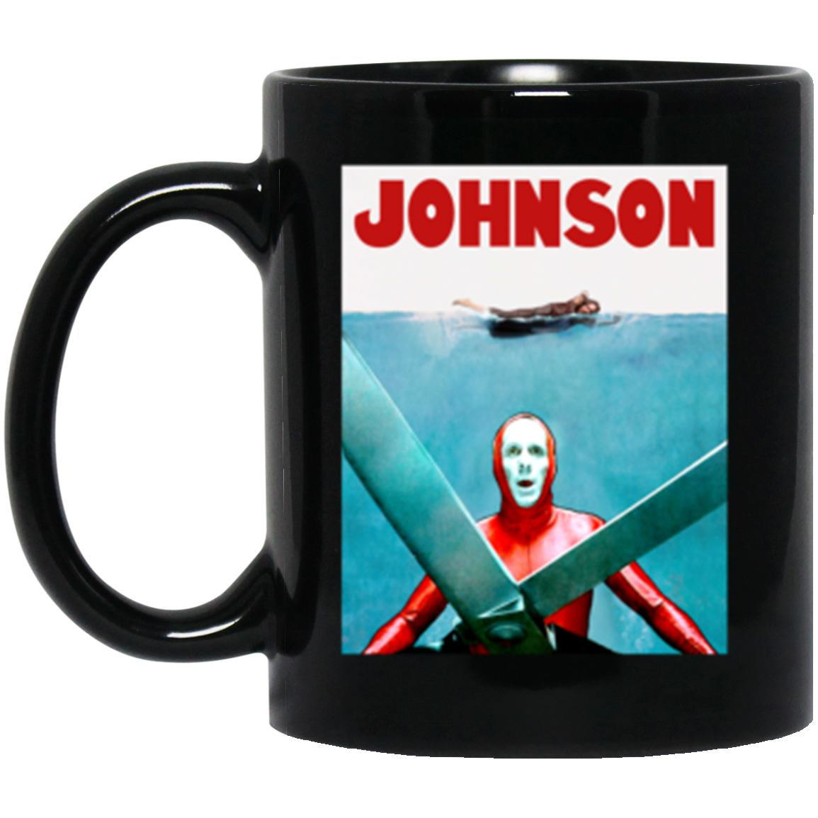 Drinkware - JAWS JOHNSON Black Mug 11oz (2-sided)