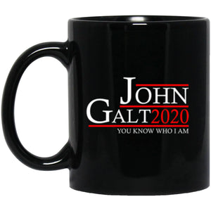 Drinkware - John Galt 20 Black Mug 11oz (2-sided)