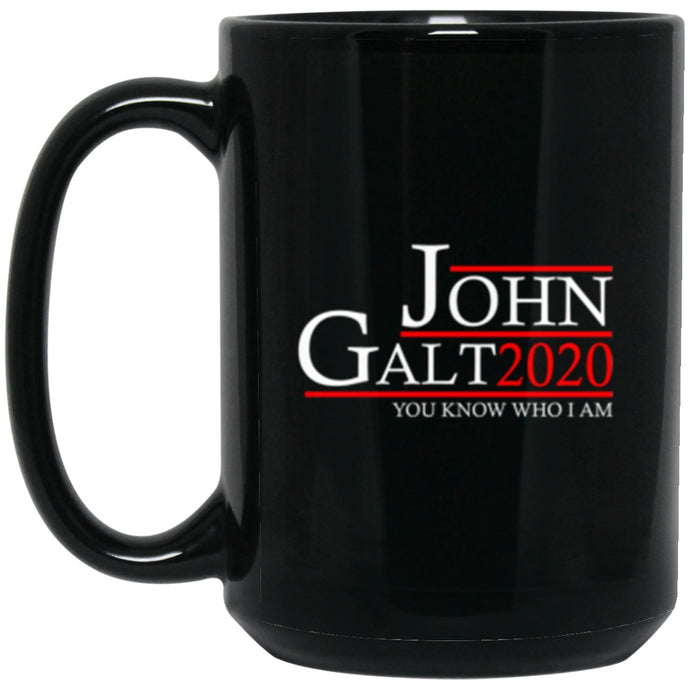 Drinkware - John Galt 20 Black Mug 15oz (2-sided)