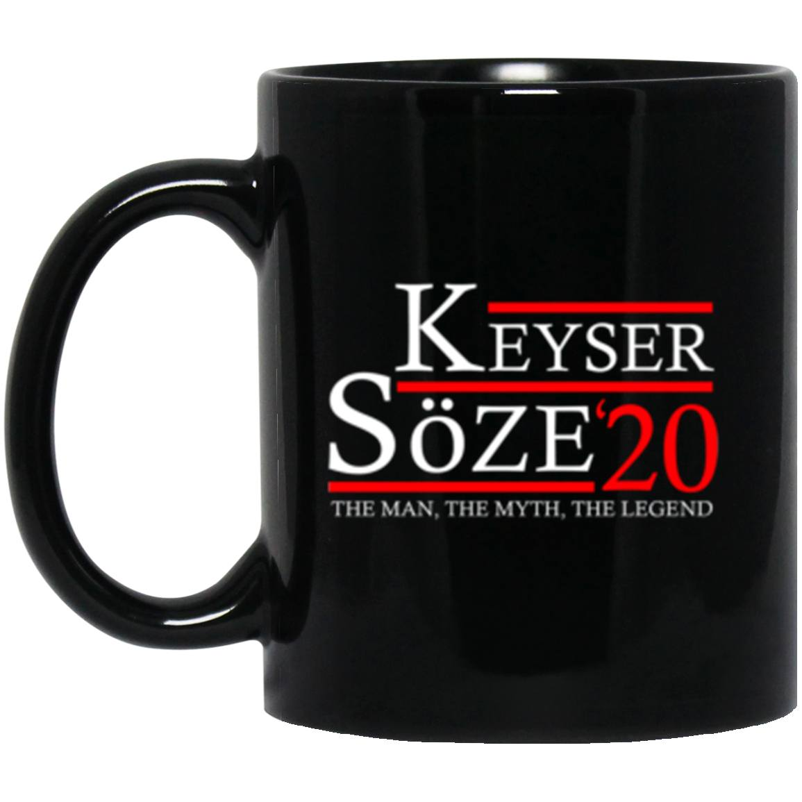 Drinkware - Keyser Soze 20 Black Mug 11oz (2-sided)