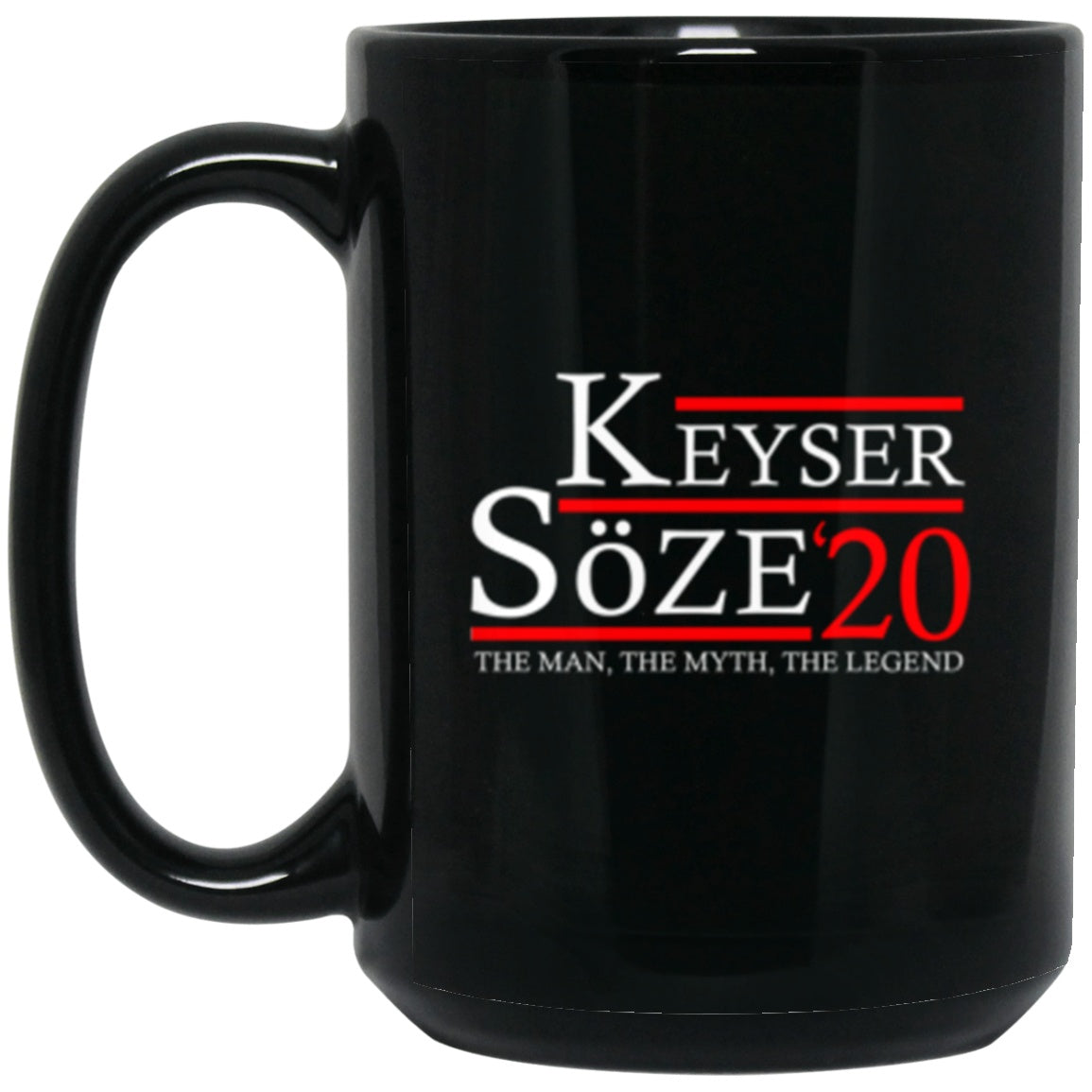 Drinkware - Keyser Soze 20 Black Mug 15oz (2-sided)