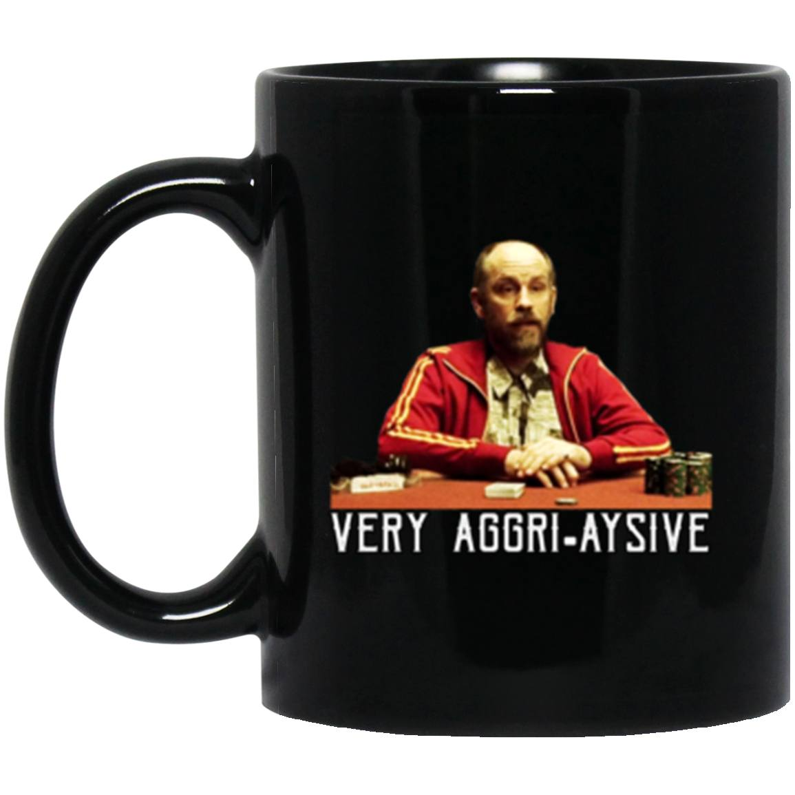 Drinkware - KGB Aggri-aysive Black Mug 11oz (2-sided)