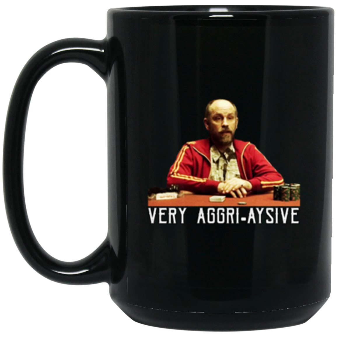 Drinkware - KGB Aggri-aysive Black Mug 15oz (2-sided)