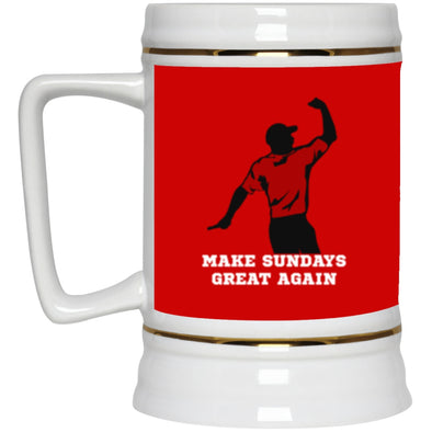 Drinkware - Make Sundays Great Again Beer Stein (2-sided)