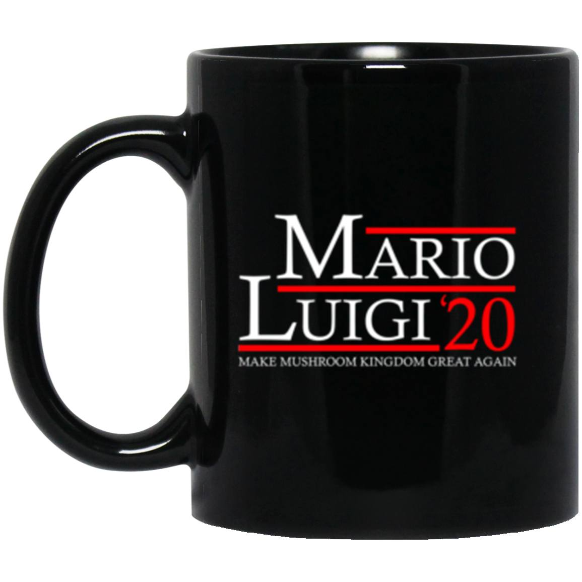 Drinkware - Mario Luigi 20 Black Mug 11oz (2-sided)