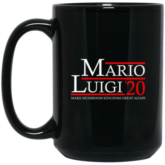 Drinkware - Mario Luigi 20 Black Mug 15oz (2-sided)