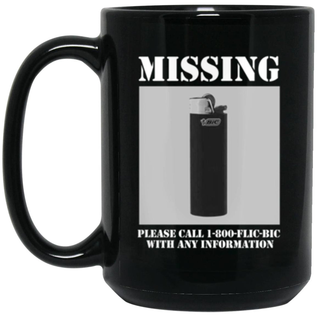 Drinkware - Missing Bic Mug 15oz (2-sided)