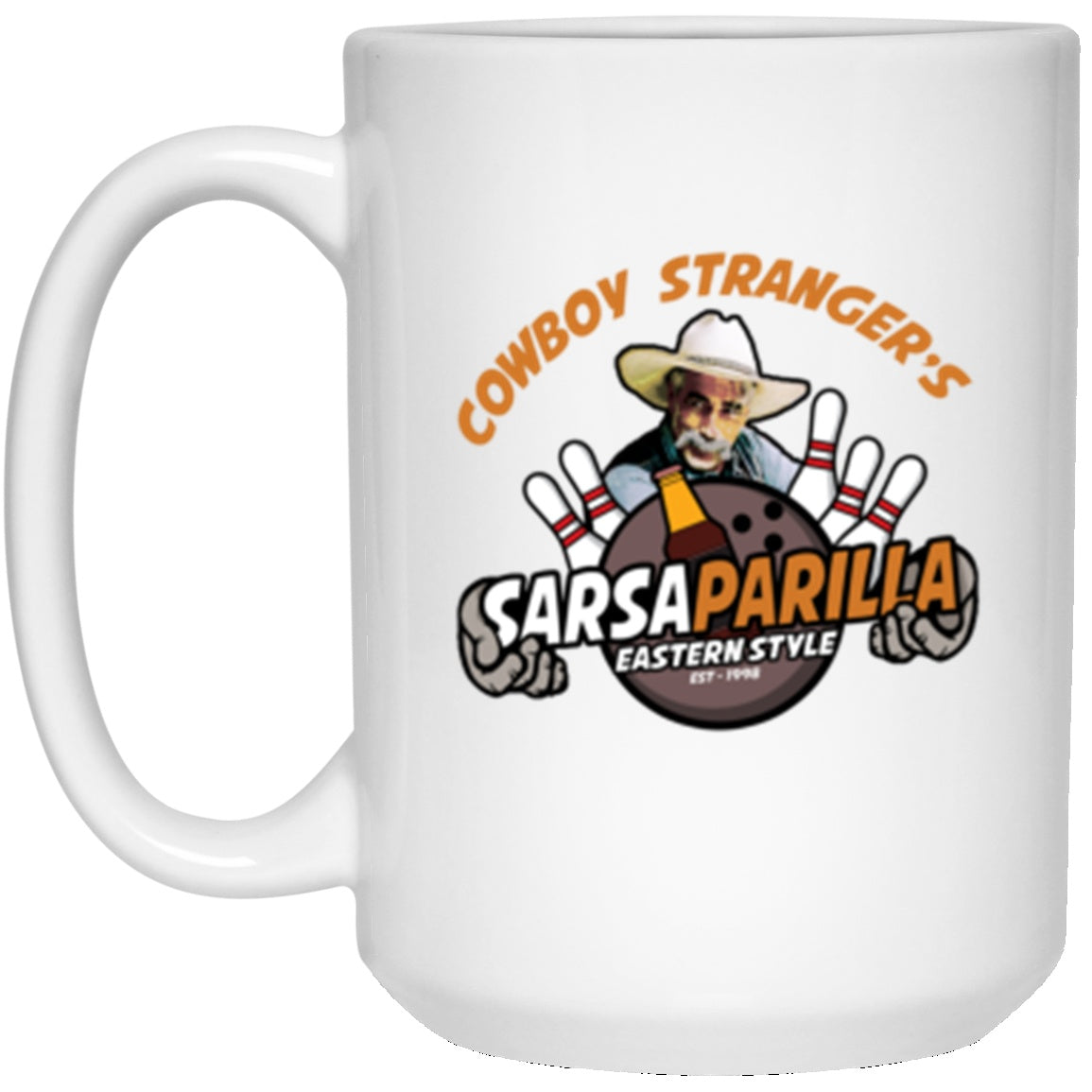 Drinkware - Stranger's Sarsaparilla White Mug 15oz (2-sided)