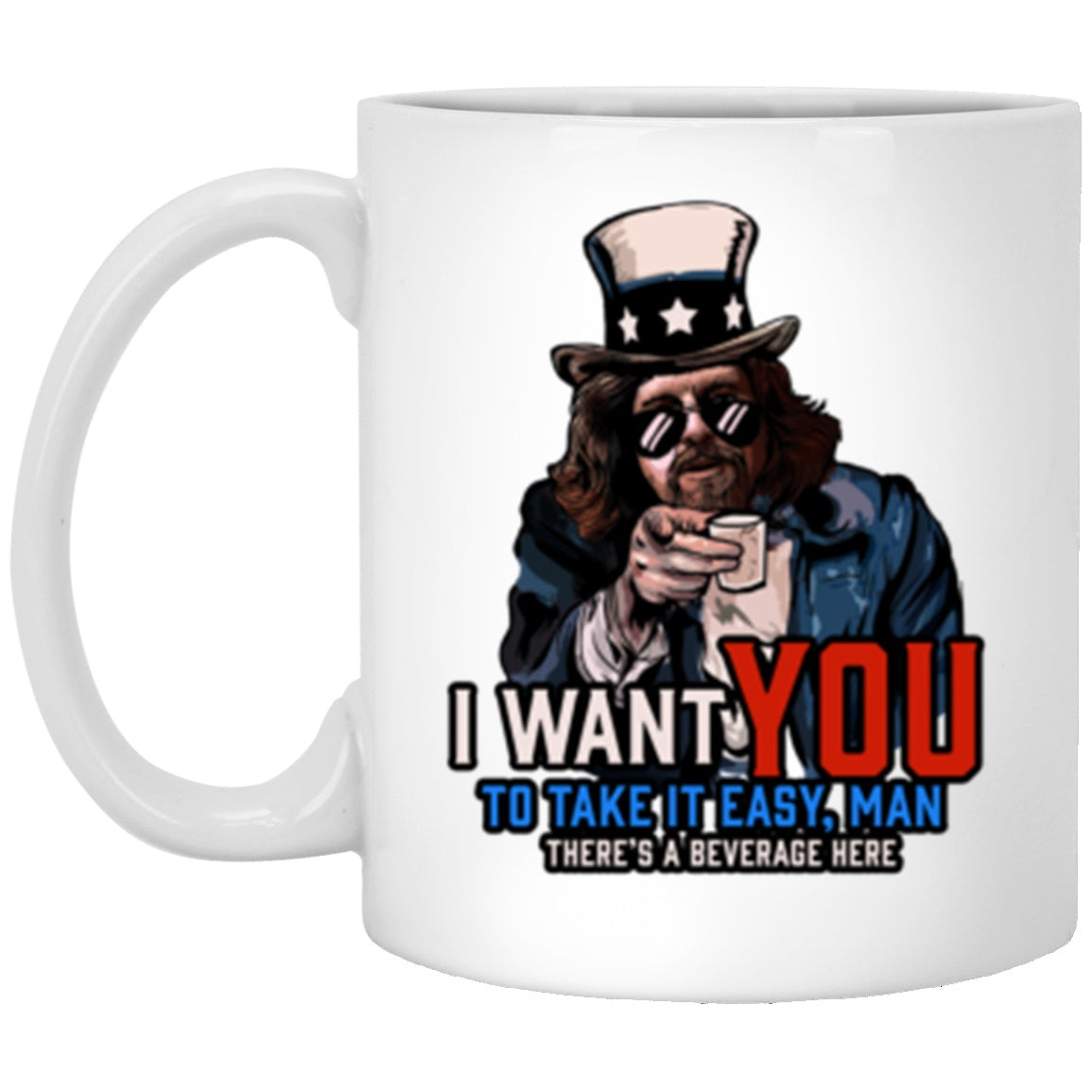 Drinkware - Take It Easy Man White Mug 11oz (2-sided)