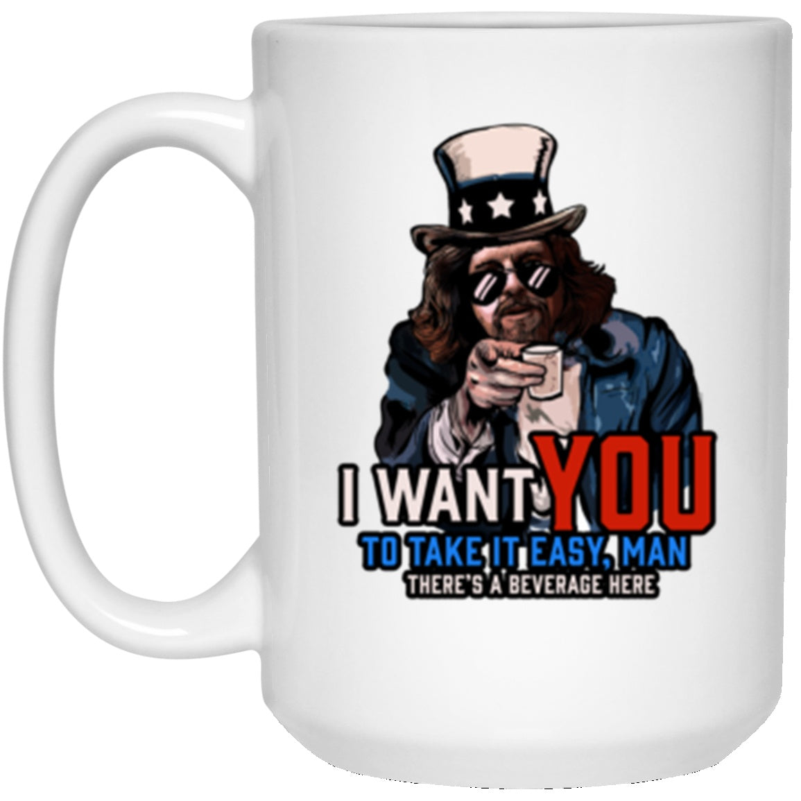 Drinkware - Take It Easy Man White Mug 15oz (2-sided)