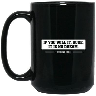 Drinkware - Theodore Herzl Mug 15oz (2-sided)