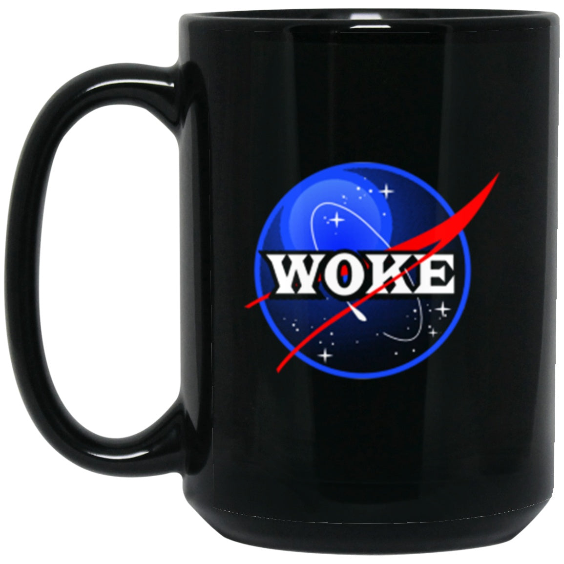 Drinkware - Woke Black Mug 15oz (2-sided)