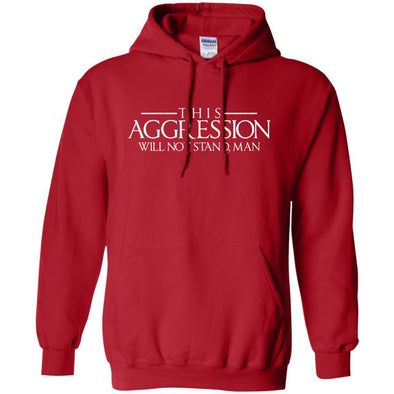 Sweatshirts - Aggression Text Hoodie