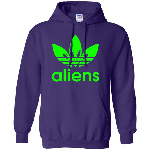 Sweatshirts - Green Aliens (not Adidas) Hoodie