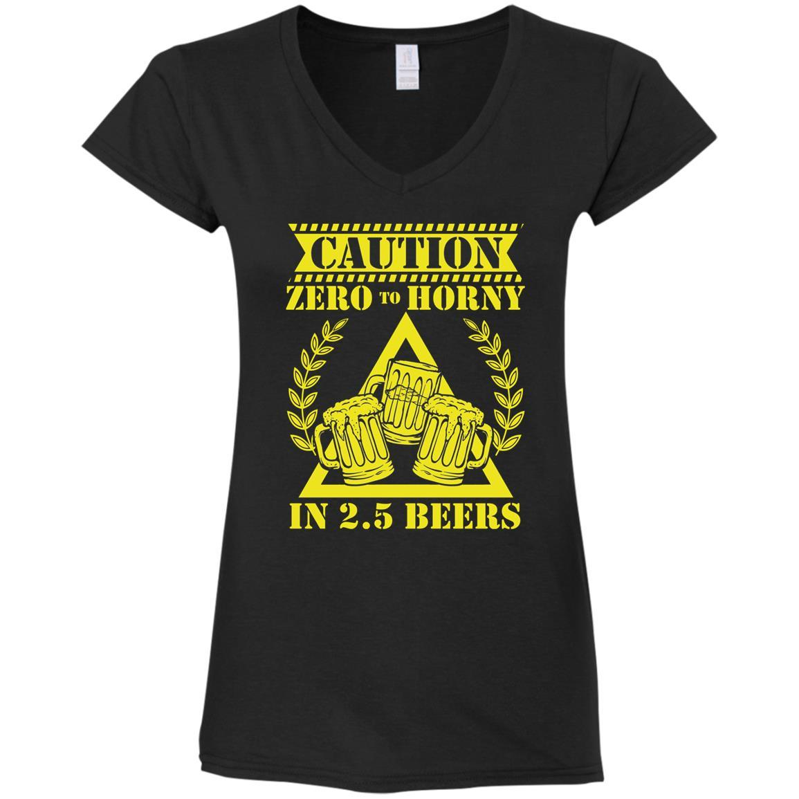 T-Shirts - 2.5 Beers Ladies V-Neck