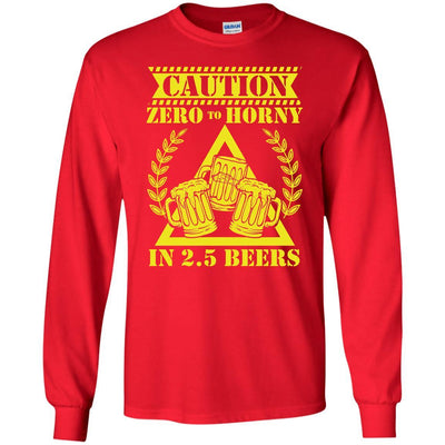 T-Shirts - 2.5 Beers Long Sleeve