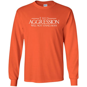 T-Shirts - Aggression Text Long Sleeve