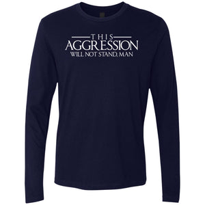 T-Shirts - Aggression Text Premium Long Sleeve