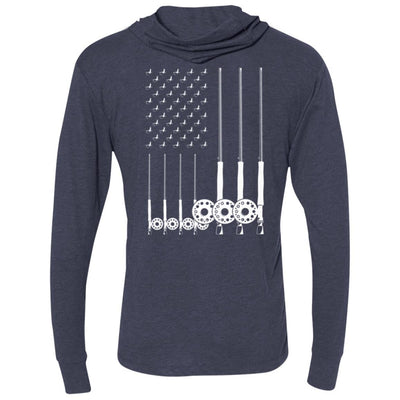 T-Shirts - American Fly Flag Premium Light Hoodie