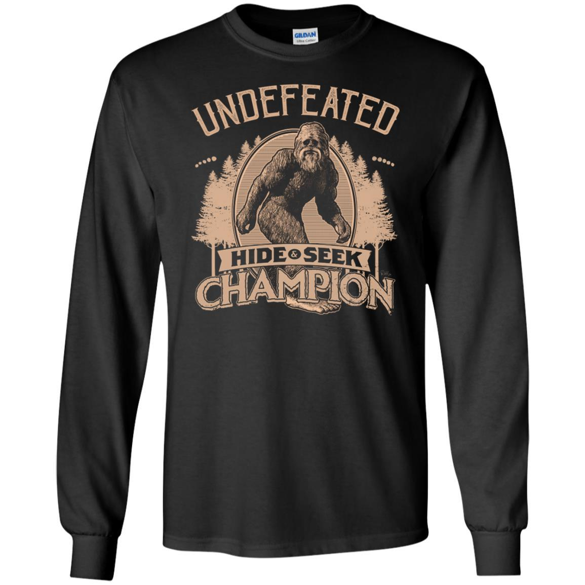 T-Shirts - Bigfoot Hide And Seek Champ Long Sleeve
