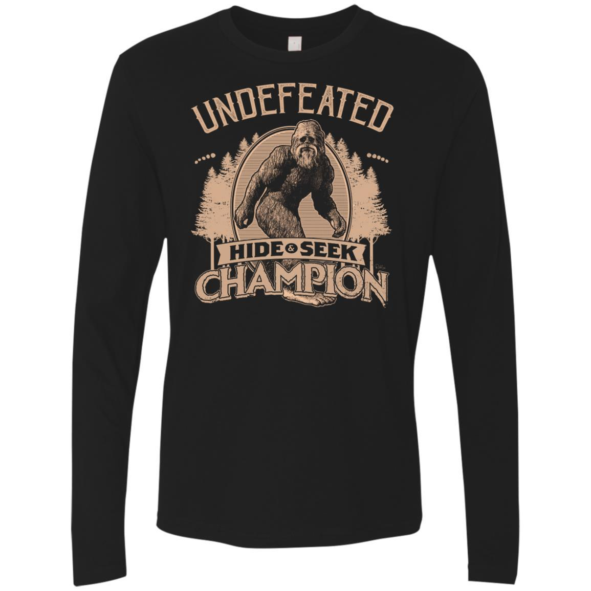 T-Shirts - Bigfoot Hide And Seek Champ Premium Long Sleeve