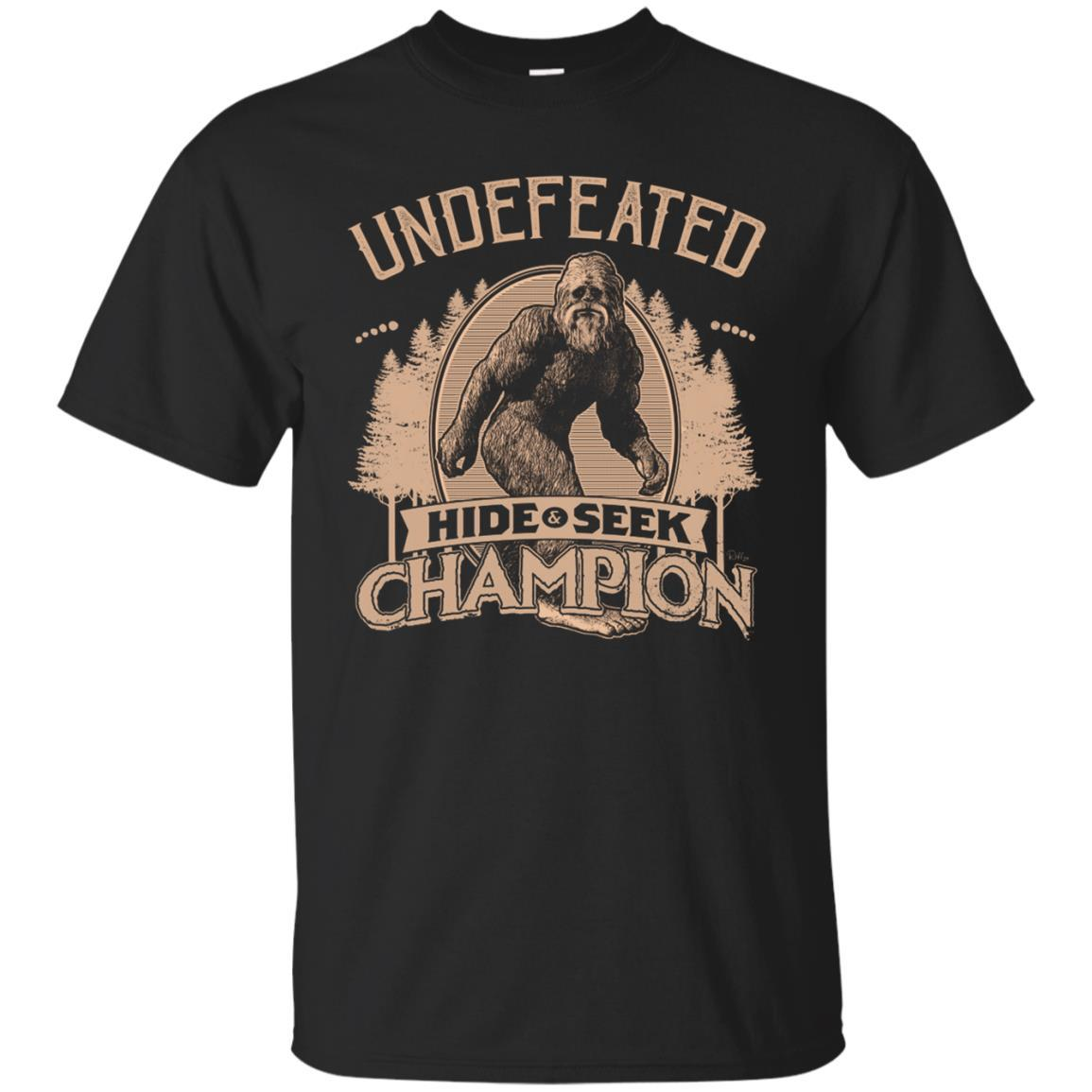 T-Shirts - Bigfoot Hide And Seek Champ Unisex Tee