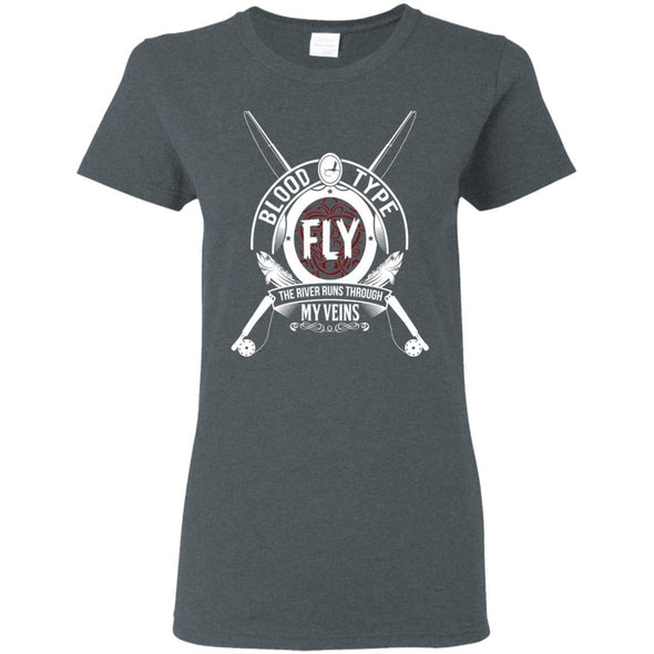 T-Shirts - Blood Type Fly Ladies Tee